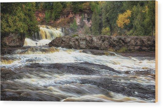 Roaring Gooseberry Falls Wood Print