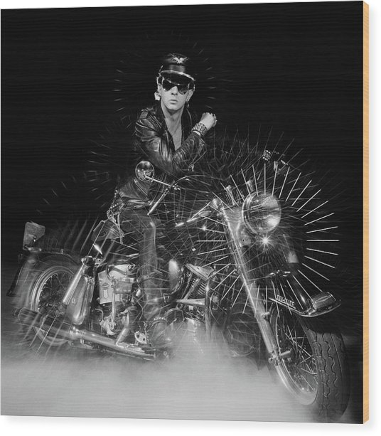 Rob Halford Posed Wood Print by Fin Costello