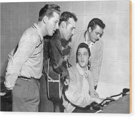 Rock And Roll Musicians Jerry Lee Wood Print by Michael Ochs Archives