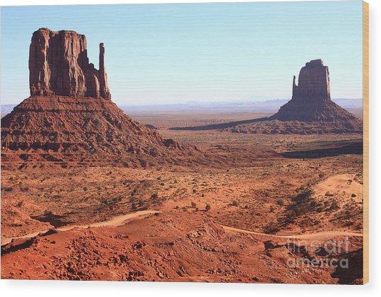 Rock Monuments  Of Utah Usa Monument Wood Print