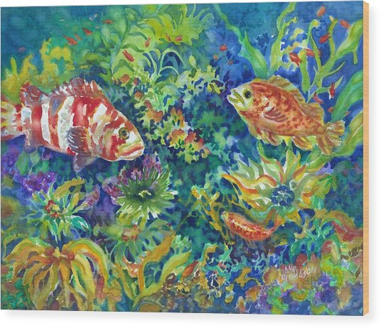 Rockfish Wood Print