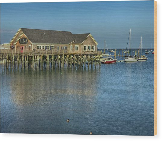 Rockland Harbor  Wood Print