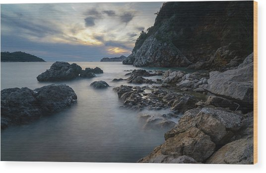 Rocky Coast Near Dubrovnik Wood Print