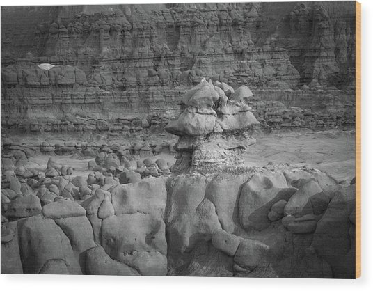 Rocky Desert Formation Wood Print