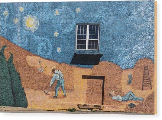 Rocky Mount Mural Wood Print
