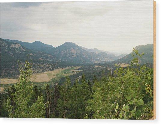 Rocky Mountain Overlook Wood Print