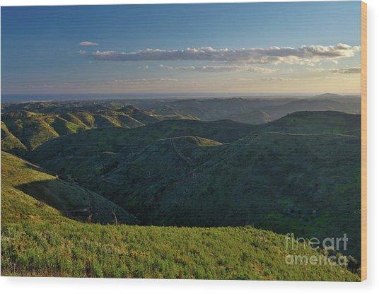 Rolling Mountain - Algarve Wood Print