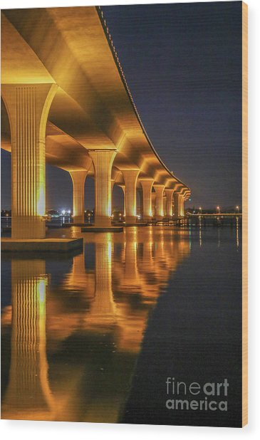 Roosevelt Bridge Portrait Wood Print