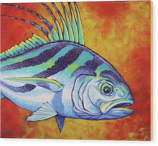 Rooster Fish 2 Wood Print