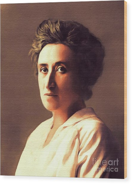 Rosa Luxemburg, Philosopher And Activist Wood Print