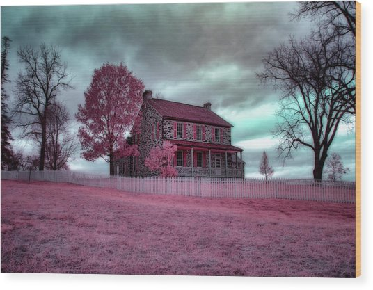 Rose Farm In Infrared Wood Print