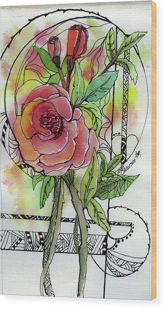 Rose Is Rose Wood Print