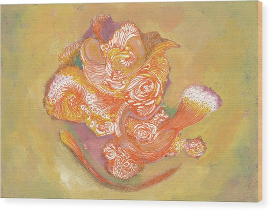 Rose - #ss19dw009 Wood Print by Satomi Sugimoto