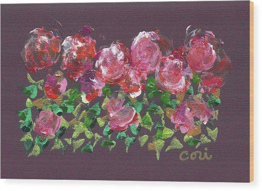 Roses 1001 Wood Print