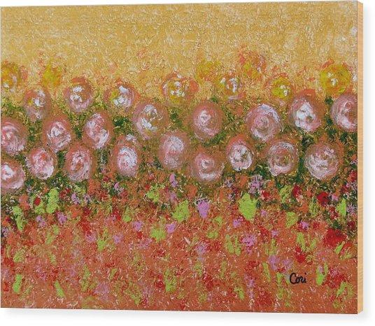 Roses Of Autumn Wood Print