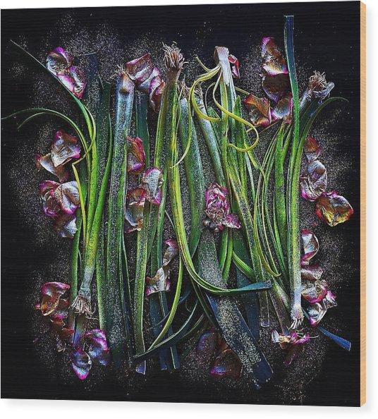 Rosy Leeks Wood Print