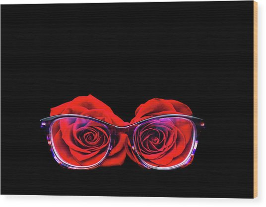 Rosy Vision Wood Print