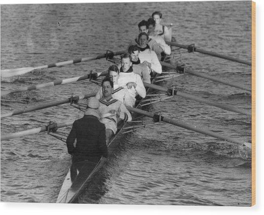 Rowing Eight Wood Print