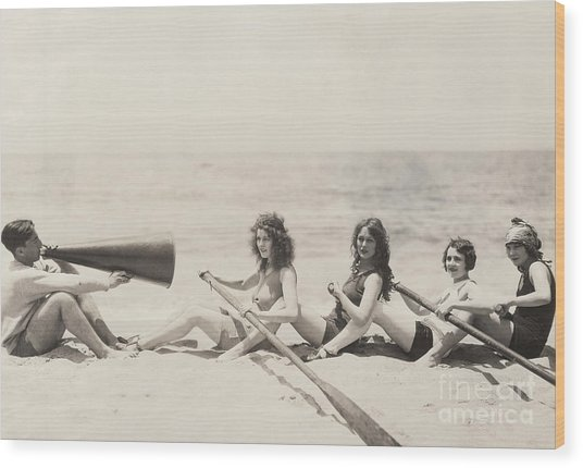 Rowing Lesson Wood Print