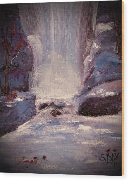 Royal Falls Wood Print