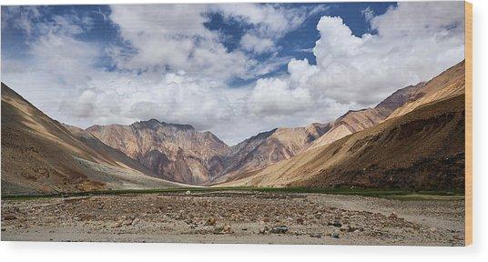 Rugged Himalayan Mountains Wood Print