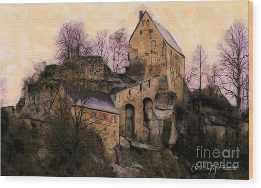 Ruined Castle Wood Print