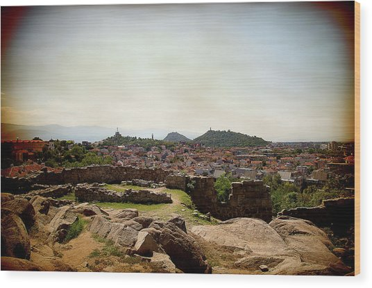 Wood Print featuring the photograph Ruins On The Top Of The Hill by Milena Ilieva