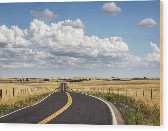 Rural Highway Wood Print