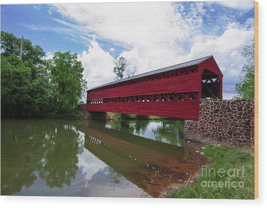 Sachs Bridge Wood Print