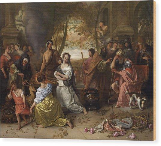 Sacrifice Of Iphigenia Wood Print