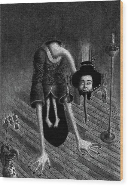 Sacrificed Concubine Ghost - Artwork Wood Print