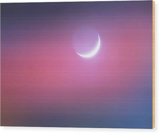Wood Print featuring the photograph Sagitarrius Waxing Moon 2 by Judy Kennedy