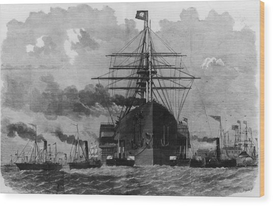 Sail And Steam Wood Print by Hulton Archive