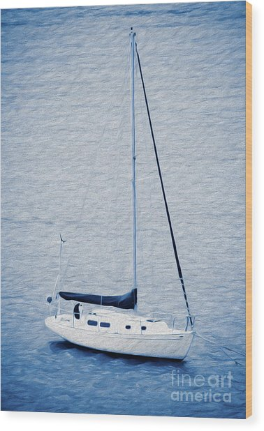 Sailboat Adventure In St. Thomas, Usvi Wood Print