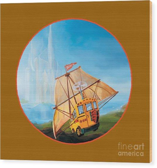 Sailbus Wood Print