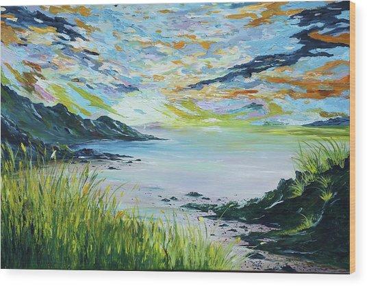 Sailing By Lovers Cove Kinsale Wood Print