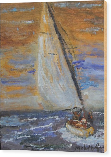 Sailng Nto The Sun Wood Print