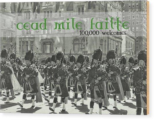 Saint Patricks Day Quote Wood Print