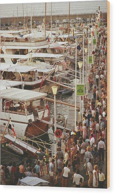 Saint-tropez Seafront Wood Print by Slim Aarons