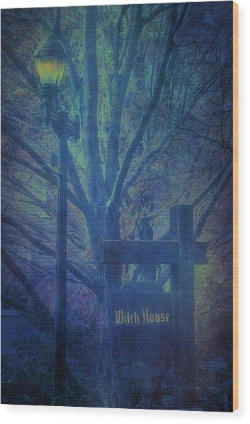 Salem Massachusetts  Witch House Wood Print