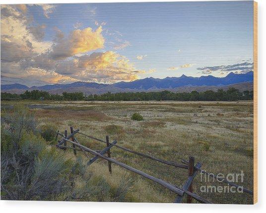 Salmon Valley Dawn Wood Print