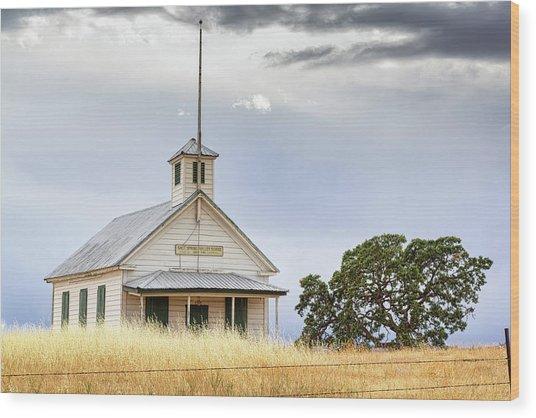 Salt Spring Valley School Wood Print
