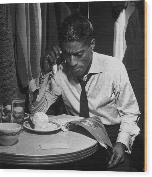 Sammy Davis Jnr Wood Print by Archive Photos