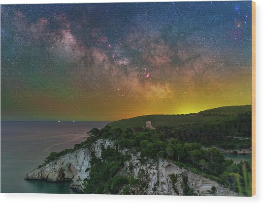 San Felice Arch And Tower Wood Print