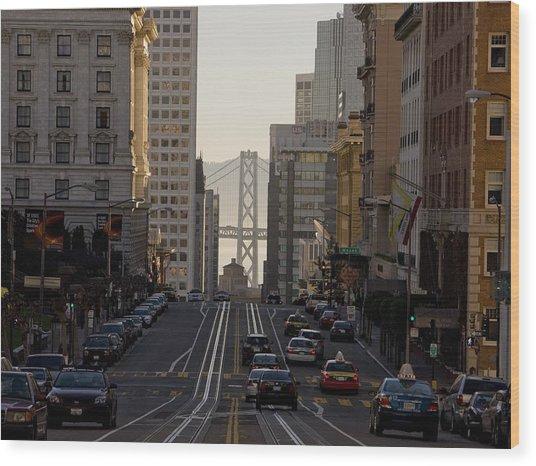 San Francisco Top California Travel Wood Print by George Rose