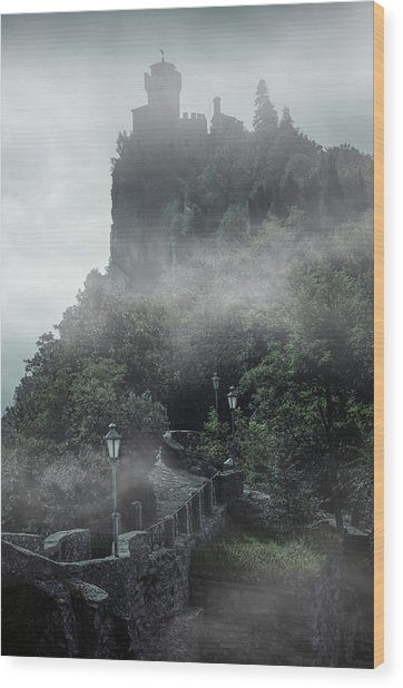 San Marino At Dawn Wood Print