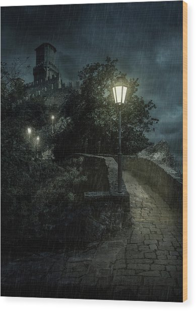 San Marino At Night Wood Print