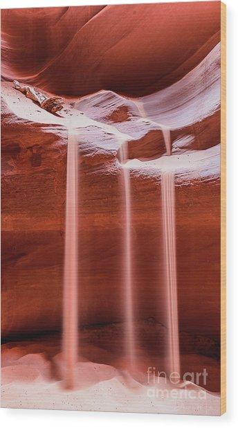 Sand Of Time Wood Print