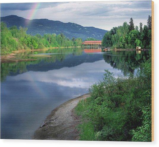 Sandpoint Idaho Wood Print