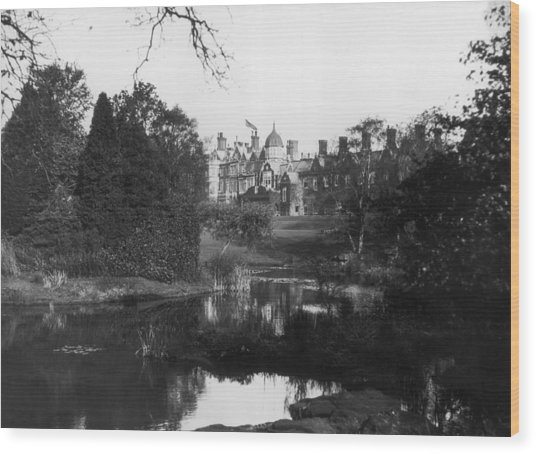 Sandringham House Wood Print by Topical Press Agency